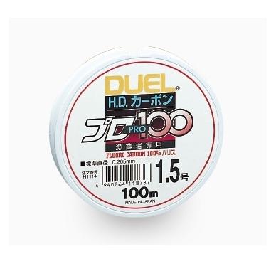 Fluorokarbonas H.D. fluorocarbon PRO100S 100% 100m Duel made in Japan