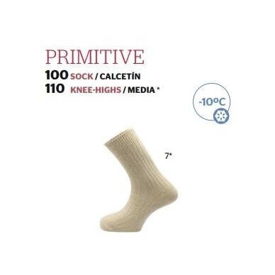 Kojinės Primitive made in Spain 100% Merino iki -10C 3