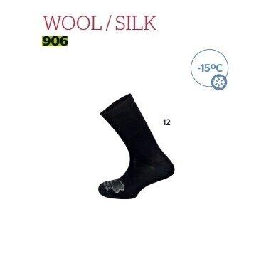 Kojinės Mund Wool/silk Merino vilna/šilkas 906 made in Spain -15C