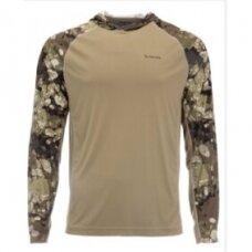 Marškinėliai Bugstopper® Solarflex hoody Simms su kapišonu 2021