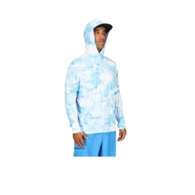 Marškinėliai Solarflex Prints hoody Simms su kapišonu 4