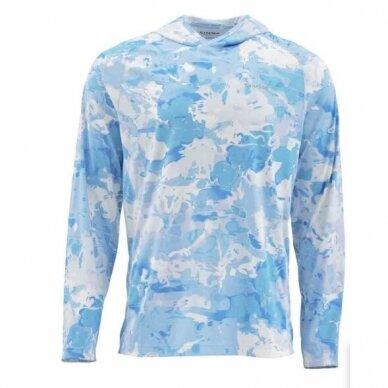 Marškinėliai Solarflex Prints hoody Simms su kapišonu 7