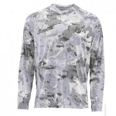 Marškinėliai Solarflex Prints hoody Simms su kapišonu