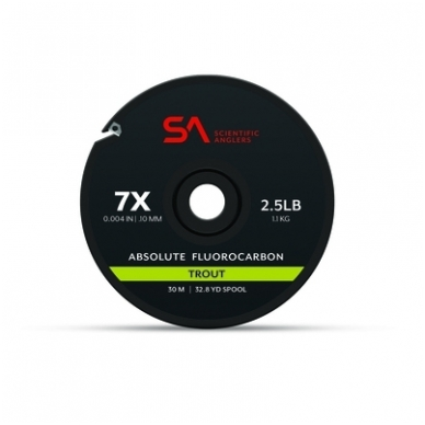Valas Absolute fluorocarbon trout tippet pavadėl.30m