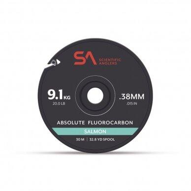 Valas Absolute Salmon fluorocarbon tippet pavadėl.30m USA